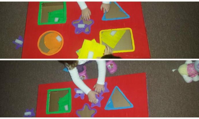 Jaslice - Sortiranje oblika i boja u didaktičkoj kutiji