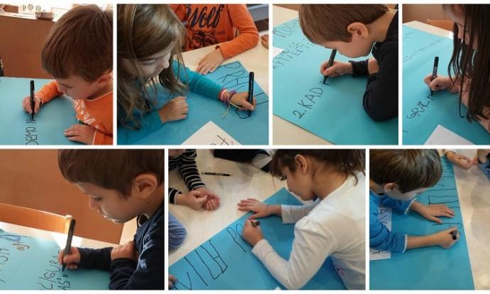 Ribice - Izrada plakata s pravilima ponašanja skupine - vježbe grafomotorike