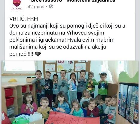 Humanitarne aktivnosti Dječjeg vrtića FrFi...