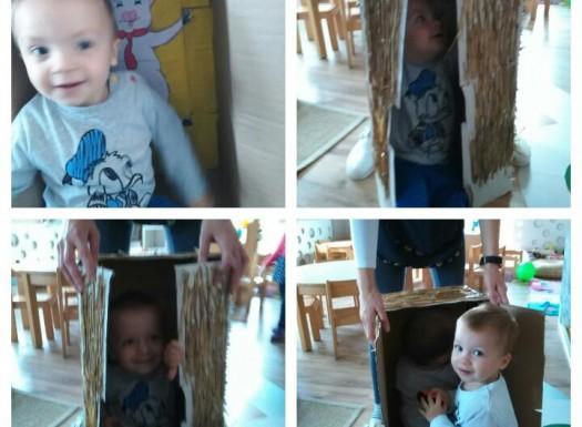 Zečići - igra s kućicama iz priče Tri praščića, u sklopu istoimenog projekta