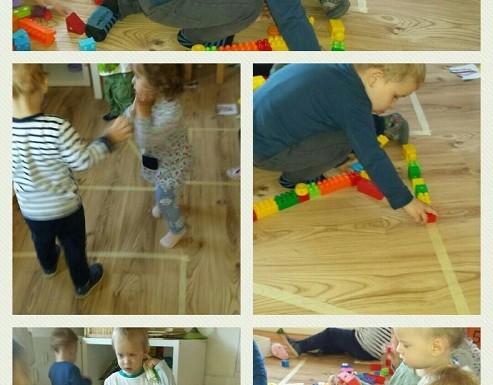 Zečići - upoznavanje različitih geometrijskih oblika, hodanje, nizanje i slaganje po predlošcima, razvoj spoznaje, motorike, logike