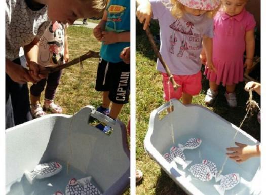Leptirići - društvena igra Upecaj ribu, razvoj koncentracije, strpljenja, upornosti, suradnje i sportskog duha