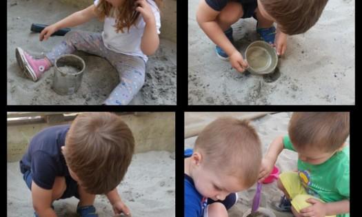 Zečići - simbolička igra kuhinje u pješčaniku, spoznajni i senzomotorni razvoj