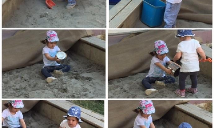 Bubamare - igre u piješčaniku - prosipanje i presipavanje, razvoj fine motorike i taktilne percepcije