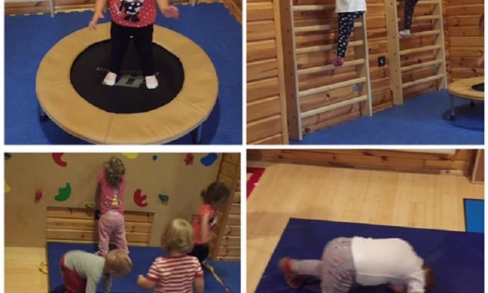Zečići - boravak u dvorani, igra pilates loptom (kotrljanje, hvatanje, dodavanje), razvoj motorike i koordinacije