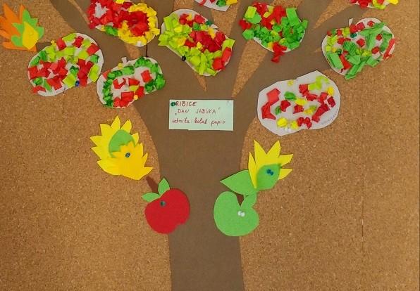 Ribice - Dan jabuka - poticanje fine motorike, kreativnosti, suradničko učenje, slikopriča Apples