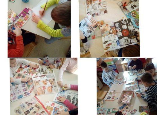 Ribice - prepoznavanje i pisanje slova, izrezivanje pojmova s početnim slovima A, B i C, razvoj fine motorike, preciznost, samostalnost