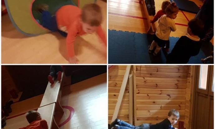 Leptirići - tjelesne aktivnosti u dvorani, razvoj ravnoteže, fleksibilnosti i koordinacije, poligon