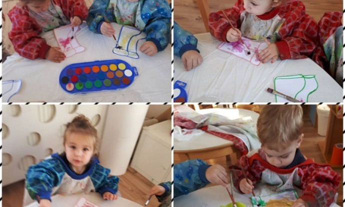 Zečići - likovna aktivnost vodenim bojicama, bojanje gumenih čizmica, poticanje kreativnosti i učenje nove likovne tehnike