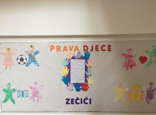 Zečići - likovna aktivnost bojanja vodenim bojama i izrada panoa, obilježavanje Međunarodnog dana dječjih prava, poticanje kreativnosti i suradnje među djecom