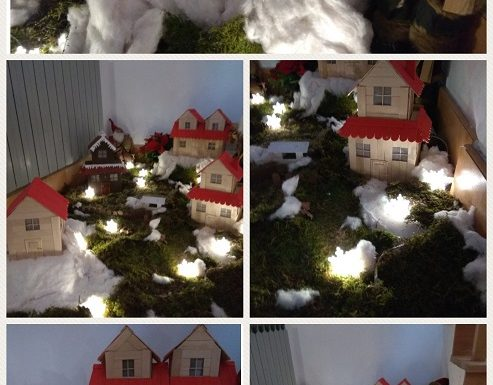 Zimsko i predbožićno raspoloženje - zajednički radovi djece i odgajateljica