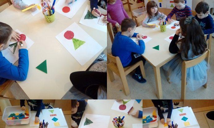 Ribice - crtanje po zadanom predlošku, prepoznavanje i imenovanje boja i geometrijskih likova, razvoj pamćenja, strpljivosti, okulomotorike i fine motorike