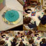 Ribice - izrada blagdanskih kolačića, manipuliranje plastelinom i otiskivanje modlicama, razvoj osjetilne percepcije, spoznaje te fine motorike šake i prstiju