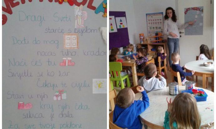 Leptirići - slikopriča Sveti Nikola, poticanje ranog čitanja i prepoznavanja slova i aplikacija, suradničko učenje kroz poticajno okruženje