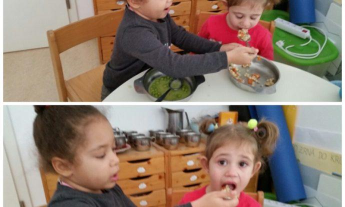 Leptirići - poticanje prijateljskih odnosa u skupini, pomoć prilikom hranjenja, međusobno uvažavanje i suradnja