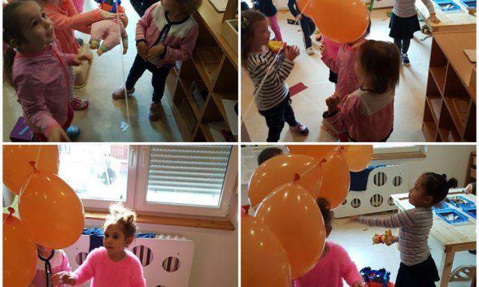 Leptirići - igra balonima, poticanje na zajedničko druženje i igru, razvoj empatije