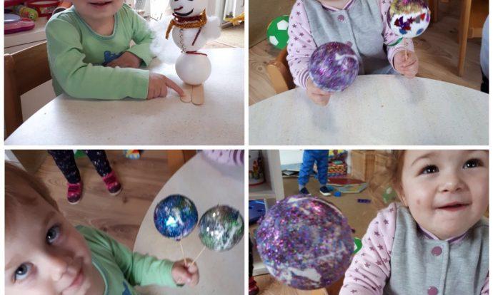 Zečići - božićna kreativna radionica, izrada božićnih ukrasa, zajedničko druženje roditelja, djece i odgojiteljica