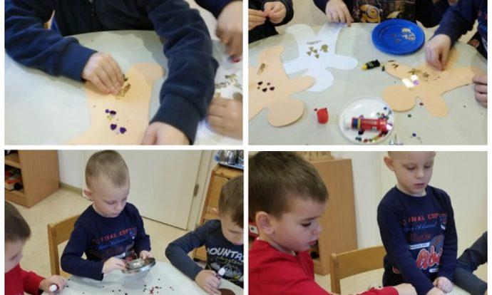 Leptirići - izrada božićnih ukrasa, ljepljenje i kombiniranje raznog materijala, razvoj mašte