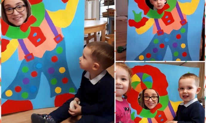 Zečići - imitativna igra Ja sam klaun Čupko, razvoj mašte, suradničkog učenja i zajedničke igre
