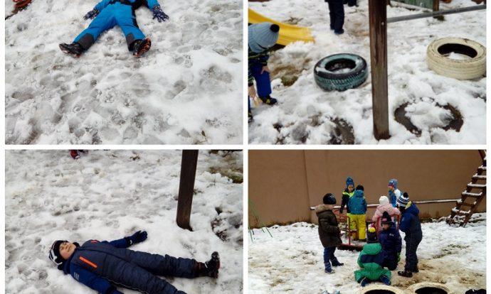 Ribice - igra u snijegu, izrada snjegovića, razvoj suradnje
