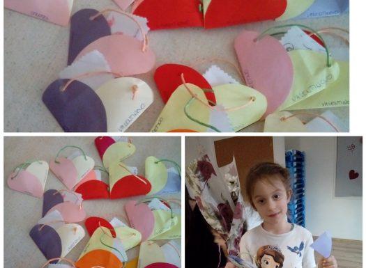 Ribice - Valentinovo, izrada čestitki za roditelje, razvoj fine motorike, pažnje, koncentracije, kreativnosti i mašte