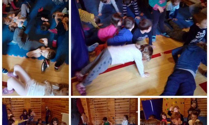 Ribice - tjelovježba u dvorani, razvoj koordinacije, koncentracije te grube motorike