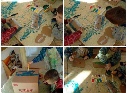 Ribice - izgradnja prometnica i garaže, spontana igra auticima