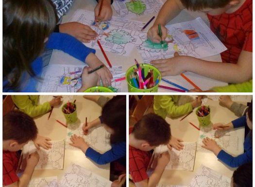Ribice - bojanje po zadanom predlošku, razvoj predškolskih vještina i preciznosti
