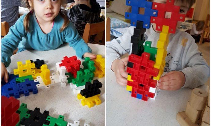 Leptirići - gradnja različitim materijalima, usvajanje početnih matematičkih pojmova, razvoj koncentracije, pažnje, logike, suradnje