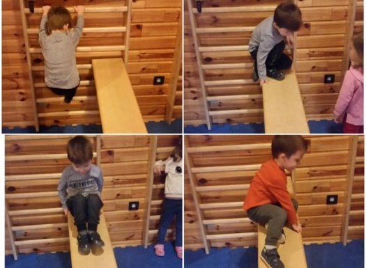 Leptirići - jutarnja tjelovježba u dvorani, penjanje, spuštanje, razvoj ravnoteže, koordinacije