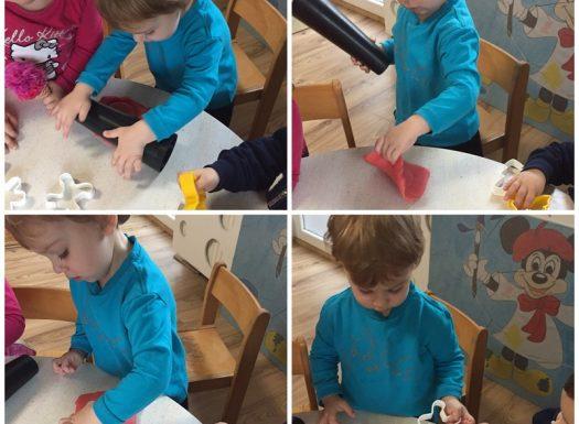Zečići - manipuliranje plastelinom, razvoj pažnje i koncentracije, poticanje fine motorike i taktilne percepcije