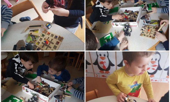 Leptirići - slobodna igra s lego kockama, zajednički dogovor, suradnja i komunikacija