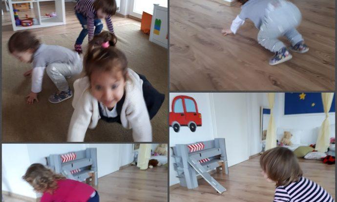 Zečići - tjelesna aktivnost, oponašanje kretanja životinja, razvoj pokretljivosti, ravnoteže, razvoj mašte, razvoj zajedništva u igri