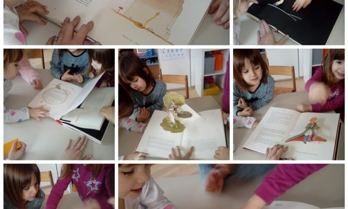 Ribice - čitanje 3D priče Mali princ, upoznavanje s književnim djelima, razgovor, razvoj i širenje vokabulara