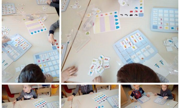 Ribice - kreativne igre, slaganje prema zadanom modelu, uočavanje različitosti, usvajanje pojmova o bojama i stranama (lijevo i desno), razvoj logičkog razmišljanja