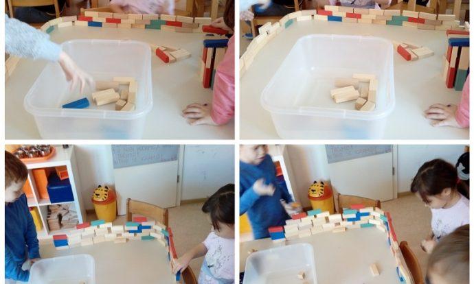 Ribice - građenje drvenim kockicama, usvajanje pojmova o ravnoteži, razvoj koordinacije i logičkog razmišljanja