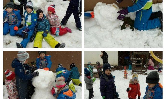 Ribice - igre na otvorenom, izrada snjegovića, poticanje suradničkih odnosa, timskog rada i osjećaja pripadanja grupi