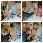 Ribice - slobodna igra, manipuliranje materijalima, slaganje kockica i čaša, razvoj pažnje i koncentracije, usvajanje spoznaja o ravnoteži