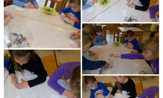 Ribice - likovna aktivnost, tema Košarica puna sreće, bojanje pisanica, razvijanje fine motorike šake i prstiju, poticanje preciznosti i strpljivosti