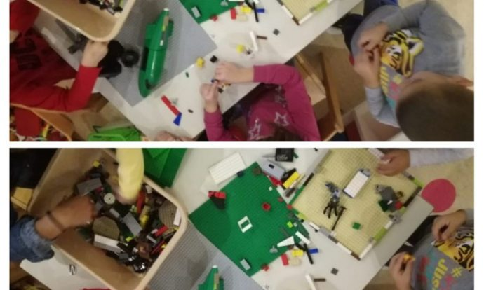 Ribice - Stolno- manipulativne igre, građenje s lego kockama, domino Prometni znakovi, razvoj mašte i koordinacije oko-ruka te fine motorike