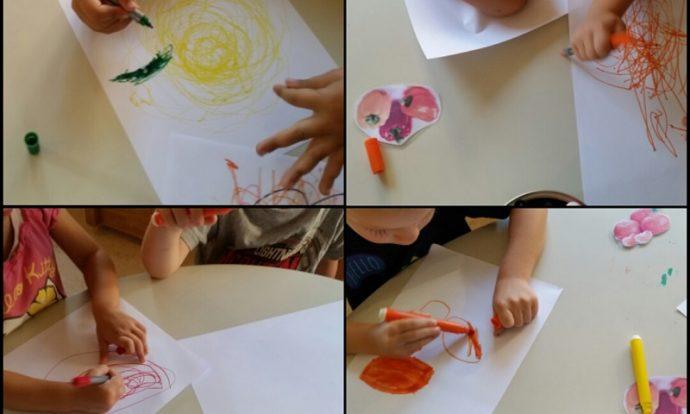 Leptirići - likovna aktivnost, crtanje povrća flomasterom, razvoj kreativnosti, fine motorike, upornosti