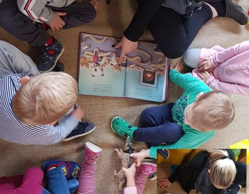 Zečići - čitanje slikovnica, usvajanje novih pojmova, poticanje razvoja govora i pravilnog izgovora riječi