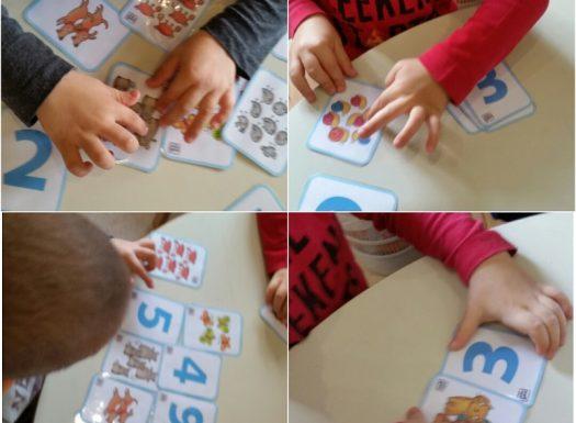 Leptirići - usvajanje brojeva do 10 uz pomoć kartica, razvoj pamćenja, logike, upornosti