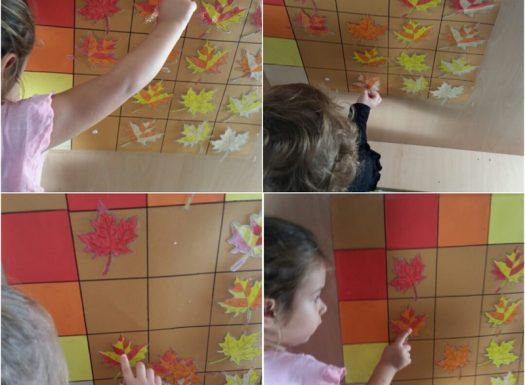 Leptirići - interaktivni plakat s lišćem, klasifikacija prema dva kriterija, razvoj logičkog zaključivanja, zapažanja