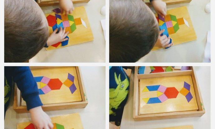 Ribice - matematičke igre, domino i slaganje geometrijskih likova po predlošku, poticanje vizualne percepcije i koncentracije