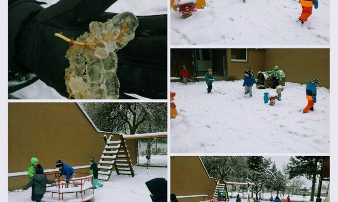 Ribice - igre na snijegu, boravak na zraku