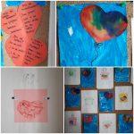 Leptirići - likovna aktivnost, rezanje i lijepljenje kolaž papira, crtanje olovkom, bojanje pastelama, tema Valentinovo, razvoj fine motorike, preciznosti