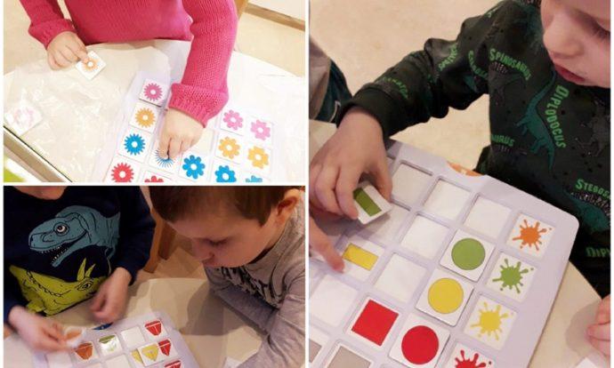 Leptirići - stolno - manipulativna igra, slaganje po predlošku, razvoj zapažanja i koncentracije te logičkog mišljenja