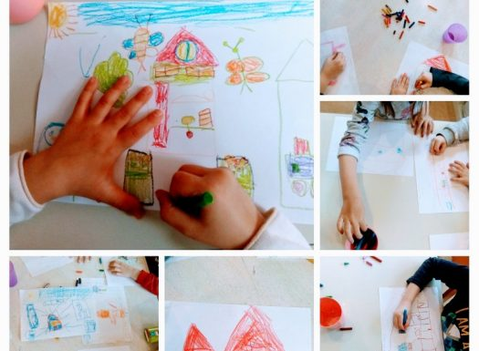Ribice - My house, parts of the house, crtanje kuće s pripadajućim prostorijama i namještajem uz imenovanje na engleskom