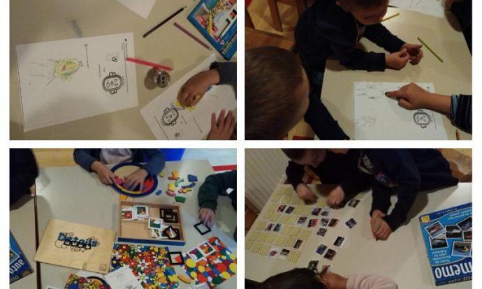 Frfići-mozgalići - stolno manipulativne igre, matematička umjetnost, poticanje na usvajanje brojeva, zbrajanje, domišljatost kroz likovno izražavanje